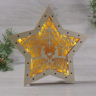 """Декоративний світильник led каганець зірка """"різдвяна історія"""""""