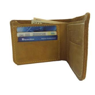 Кожаный жёлтый бумажник х10 (10 цветов)