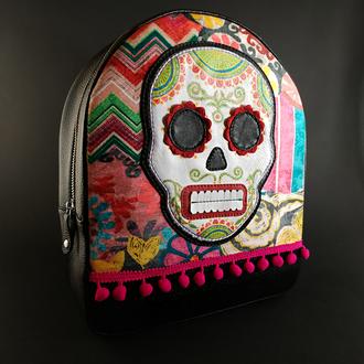 """Кожаный рюкзак """"Santa Muerte"""""""