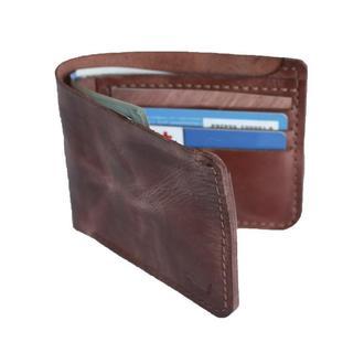 Шкіряний коньячний гаманець х10 (10 кольорів)