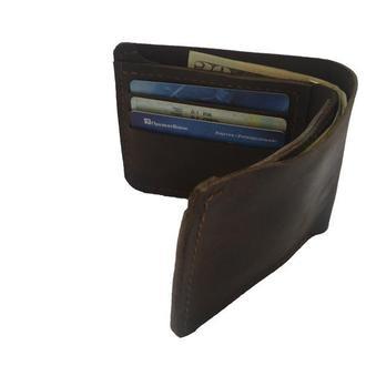 Кожаный коричневый бумажник х10 (10 цветов)
