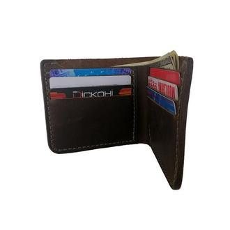 Кожаный оливковый бумажник х10 (10 цветов)