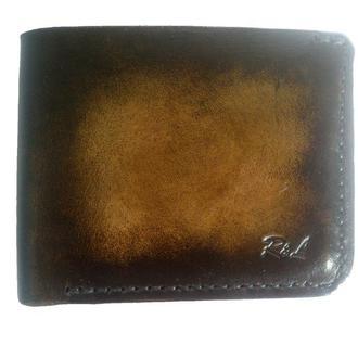 Бумажник кожаный градиент коричневый рас10 (12 цветов)