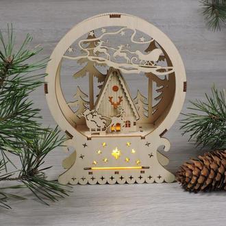 """Новогодняя инсталляция """"рождественский ночник санты"""" (2130)"""