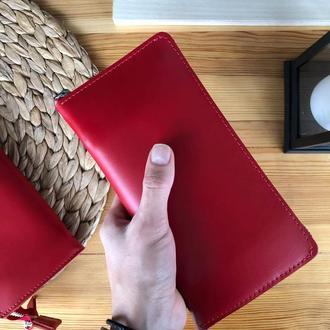 Женский кожаный кошелек Zipper