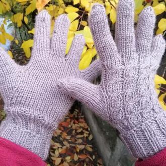 Перчатки бежевые женские