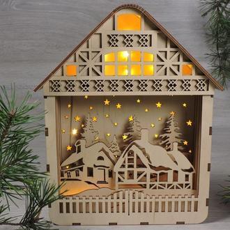 """Різдвяний нічник будиночок """"різдвяна село"""""""
