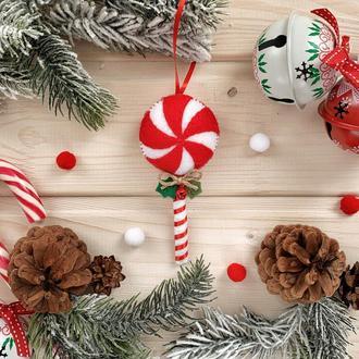 Леденец на ёлку! Новогодняя конфета игрушка на ёлку!