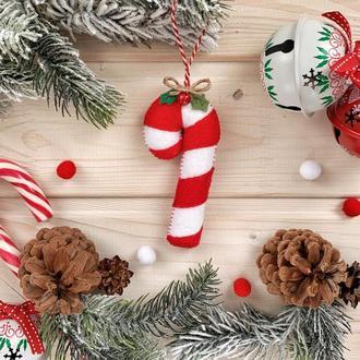 """Конфета """"Карамельная трость"""" на елку! Новогоднее украшение на ёлку!"""