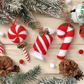 Подарунковий набір новорічних ялинкових прикрас/ Корпоративний новорічний набір іграшок!