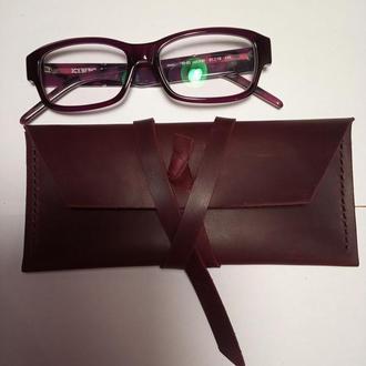 Чехол/футляр для очков из натуральной кожи