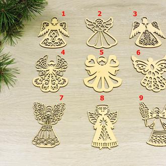 Новогодние украшения на елку Ангелочки из фанеры