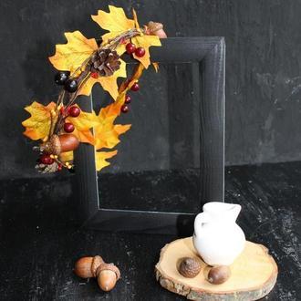 Осенний венок-ободок для фотосессии, утреника
