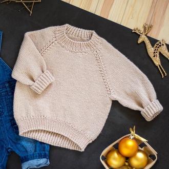 Детский вязаный свитер / джемпер / кофта / реглан