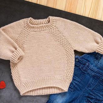 Вязаный детский джемпер / пуловер / свитер / кофта / реглан