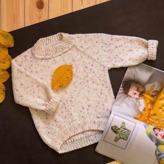 Вязаный джемпер для девочки/ пуловер / свитер / пуловер / реглан