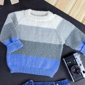 Джемпер / вязаная кофта / детский свитер / реглан