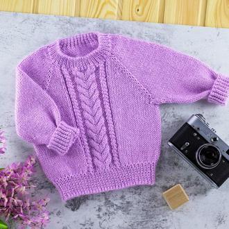 Сиреневый джемпер / свитер / кофта / пуловер / реглан