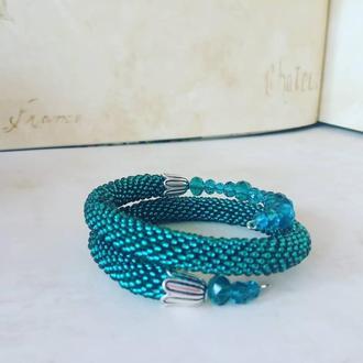 Женское украшение браслет змейка на основе