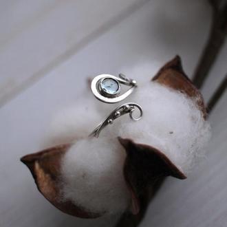 Серебряное кольцо с аквамарином