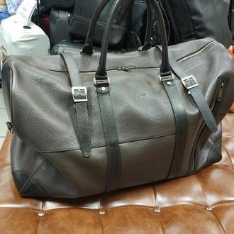 Спортивная, дорожная большая кожаная сумка с наплечным ремнем и подкладом TARWA 1633