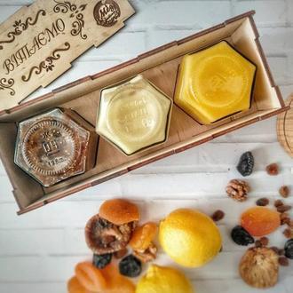 """Подарочный набор """"Для иммунитета"""" в брендированной деревянной коробочке"""