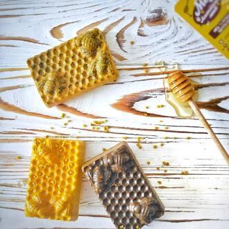 Медовое мыло (с прополисом, пыльцой, кофе).