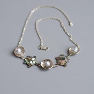 Кольє з перлами - підвіс з перлами - прикраси з перлами - кольє з перлинами