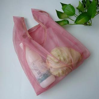 """Эко сумка из сетки , пакет """"маечка"""", эко торба, авоська, шоппер"""