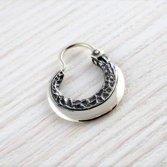 Сережка козацька ′ЛЕЗО′ (мала, срібло)