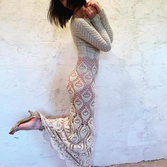Ажурне плаття в підлогу