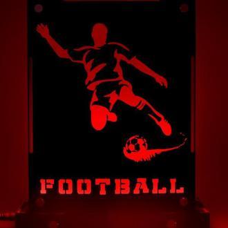 Декоративный настольный ночник Футбол, теневой светильник, несколько подсветок, подарок футболисту