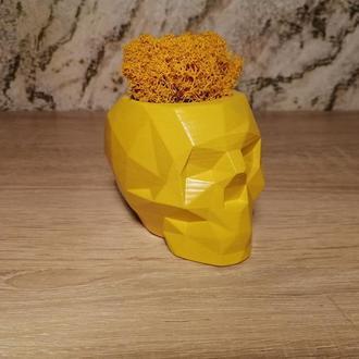 Бетонный горшок Аид (Желтый)