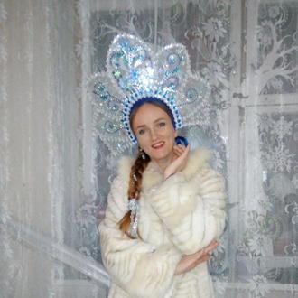 Корона кокошник для Снігуроньки