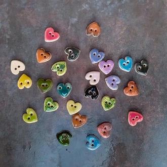 Керамічні ґудзики Серце 17 мм