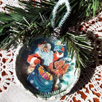 Игрушка на елку Дед мороз Подарок на День Святого Николая Рождество Новый год