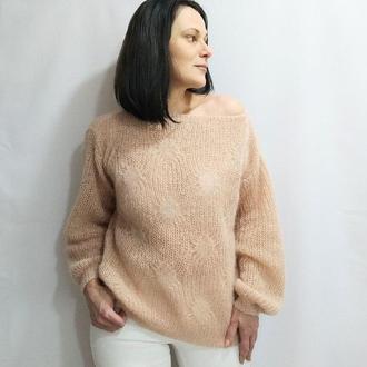 Мохеровый женский свитер