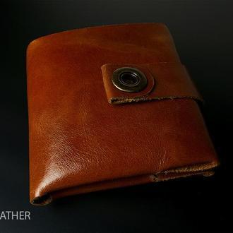 Бесшовный кошелек из натуральной кожи (мешок для денег)