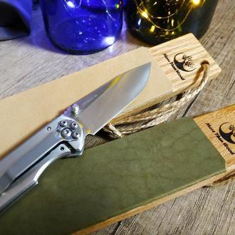 Кожаная досточка для доводки ножей