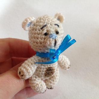 Брошь авторская медвежонок в стиле тедди
