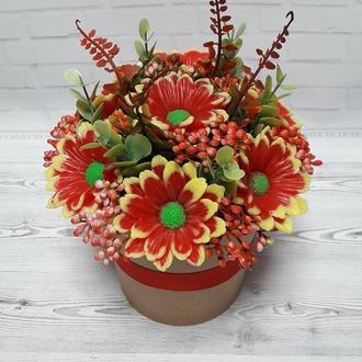 Осенний букет цветов из мыла