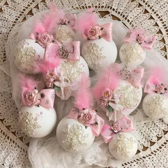 Новогодние шары на елку балерина