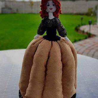 Кукла на чайник АЛИНА, баба-грелка для заварника, баба на чайник