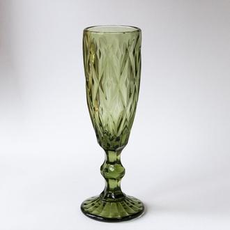 """Зелёный бокал для шампанского  """"Смарагд"""" 150 мл"""