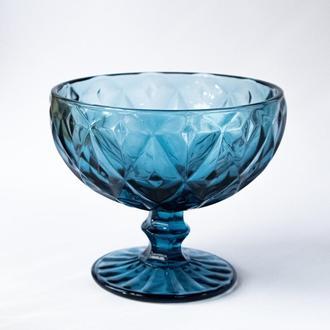 """Синяя креманка """"Сапфир"""" 300мл стекло"""