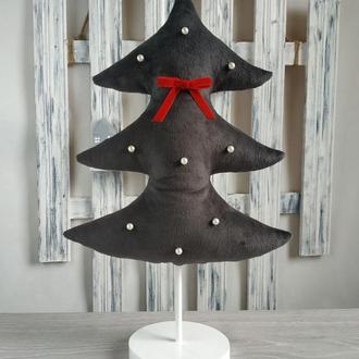 Елка из ткани для новогоднего декора.Идея подарка на Рождество.