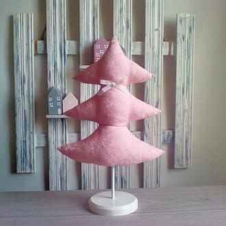 Текстильная жаккардовая елка.Елка из ткани .Идея подарка на Новый год.
