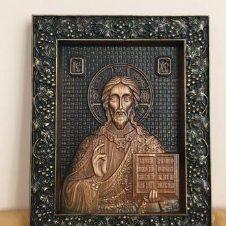 Картина из дерева, панно Иисус Христос