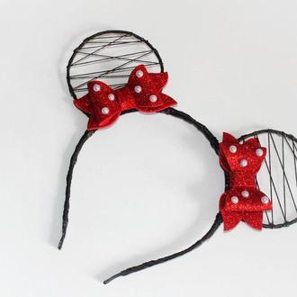 Обруч ободок уши ушки Микки Маус МинниМаус