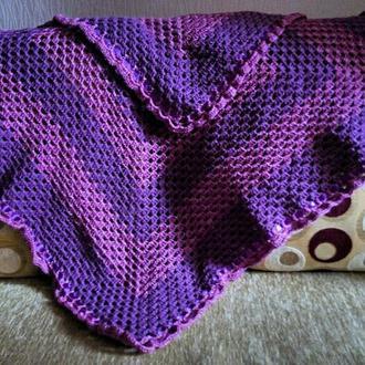 Детский плед Фиолетовый Квадрат